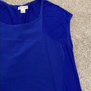 Reiss Royal Blue Top size small